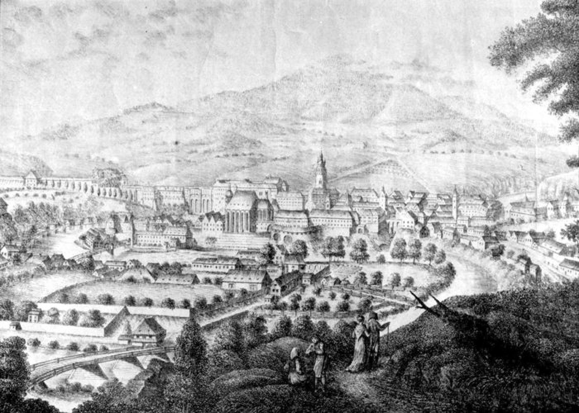 Český Krumlov 1819-ben